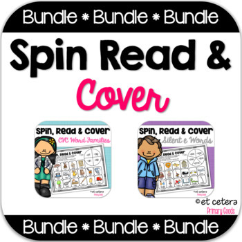 Short & Long Vowels Spin Read and Cover Bundle