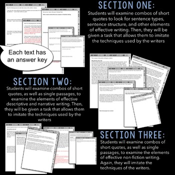 Short Mentor Texts for Secondary Writing