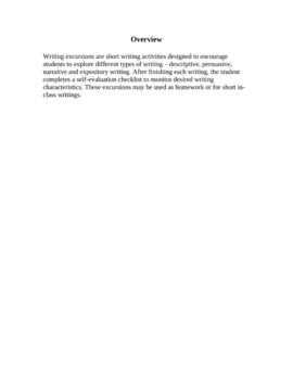 Short Motivating Writing Activities for Homework and Classwork
