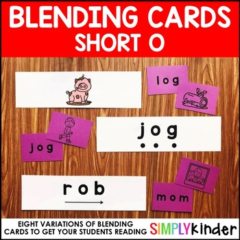 Short O Blending Cards