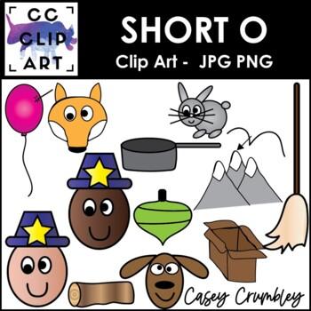 Short O CVC Clip Art Images