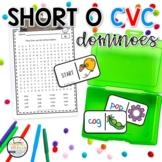 Short O CVC Domino Phonics Activity for Literacy Centers