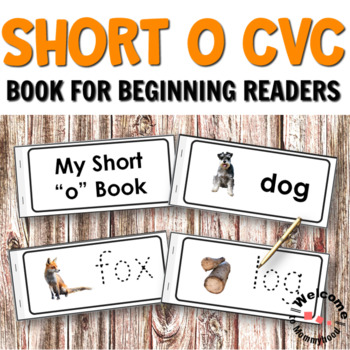 Short O CVC Printables - Book for Reading and Writing