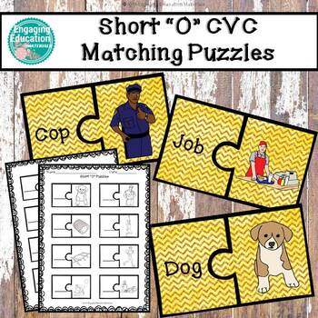 "Short ""O"" CVC Puzzles & Recording Sheet"