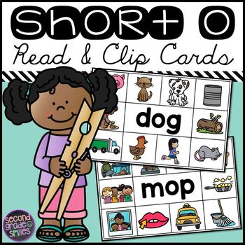 Short O CVC Read and Clip Cards