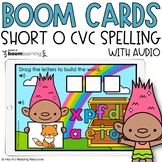 Short O CVC Spelling Boom Cards™ for Distance Learning