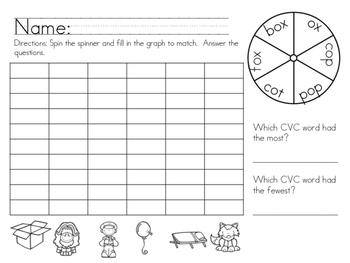 Short O CVC Vowel Pack