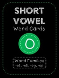 Short O CVC Word Family Cards