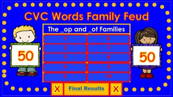 CVC Words Family Feud (Short O)