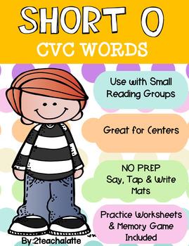 Short O CVC Word Mats, Worksheets and More!