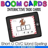 Short O CVC Word Spelling Interactive Digital Task Cards (Boom! Deck)
