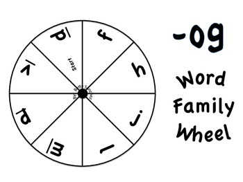 Short O CVC Word Wheel Word Work