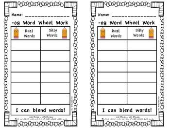 Short O CVC Word Wheel Word Work