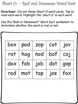 Short O - CVC - Word Work Bundle