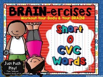 Short O CVC Words BRAIN-ercises