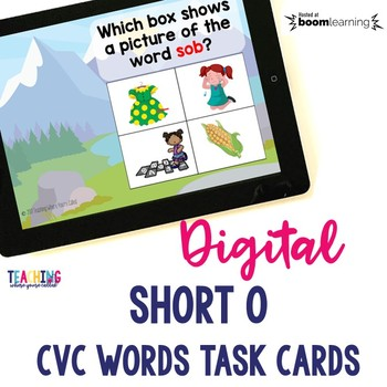 Short O CVC Words Digital Cards