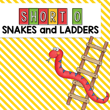 Short O CVC Words Snakes and Ladders Game