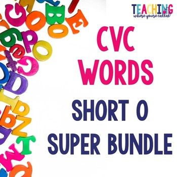 Short O CVC Words Super Bundle