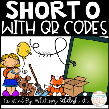 Short O CVC Words with QR Codes