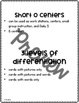 Short O Centers **Differentiated