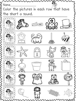 Short O - Character and Activities