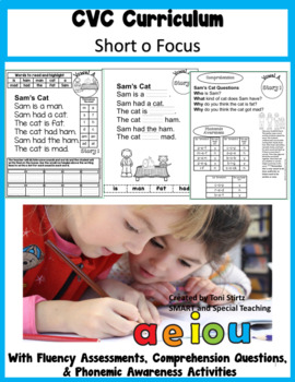 CVC Words Decodable Stories  Short Vowel O With Cloze Passages