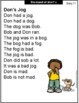 CVC Words Decodable Stories  Short Vowel O With Cloze Passages