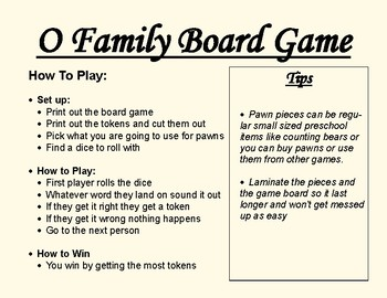 Short O Family Board Game