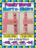 Short O- Family Words- Single & Double Sliders (OG, OP, OD, OT)