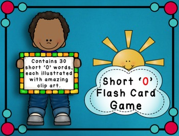 Short O Flashcard Game - CVC Words