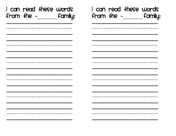 Short-O Fluency Cards
