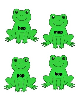 Short O Frog Word Sort