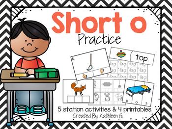 Short O Literacy Station Pack