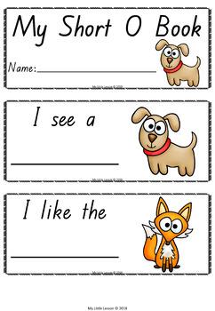 Short O Mini Book QLD Beginners Font: Short Vowels