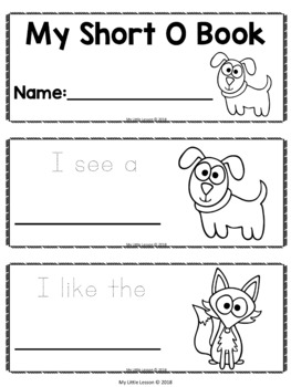Short O Mini Book: Short Vowels