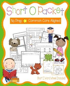 Short O No Prep Packet - Worksheets, Games and Activities,