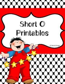 Short O No Prep Printables