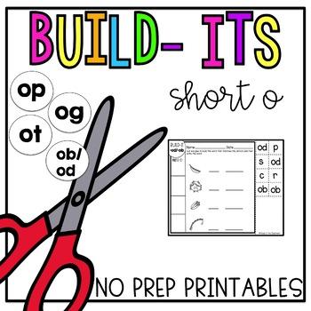 Short O No Prep Printables [Short O Build Its]