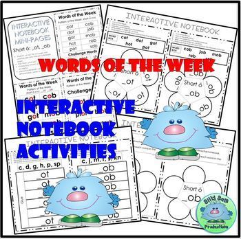 WORD FAMILY CVC WORD WORK Short O OT and OB ACTIVITIES ASSESSMENTS