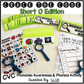 Short O Phonemic Awareness & Phonics Activity - Crack the Code