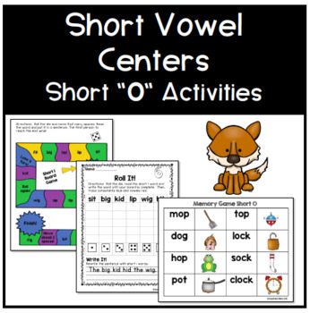 Short O Phonics Centers