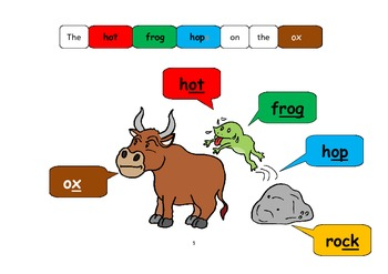 Short O Phonics+Rhyming words+Game Board