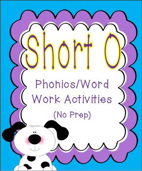 Short O Phonics/Word Work Activities