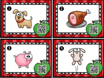 Short O Picture Task Cards