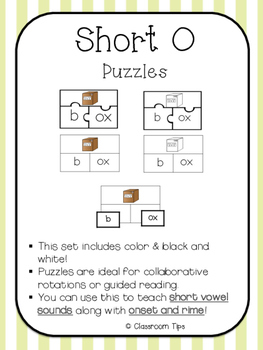 Short O Puzzles (Color & BW)