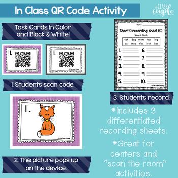 Short O QR Code Task Cards