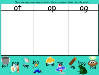 Short O Smartboard Lesson