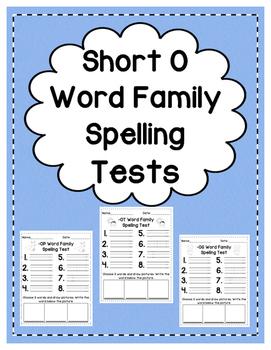 Short O: Spelling Tests
