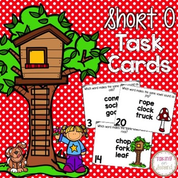 Short O Task Cards