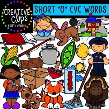 Short O Vowel Clipart CVC {Creative Clips Digital Clipart}